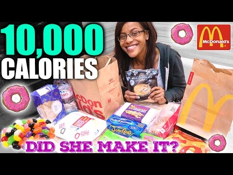 10,000 Calorie Challenge | Small Girl VS Food | EPIC CHEAT DAY
